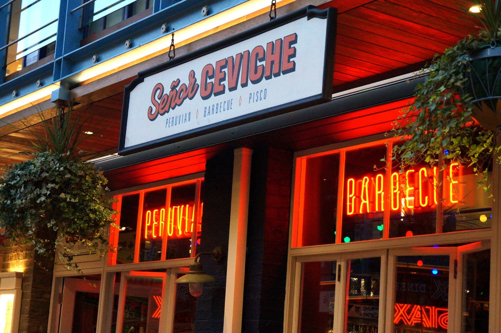 Outside Senior Ceviche restaurant