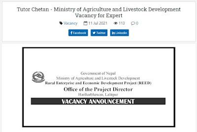 Vacancy for Rural Enterprise and Economic Development Project