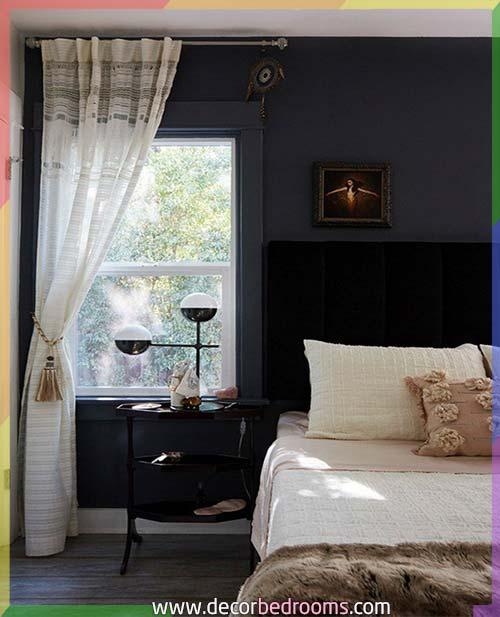 غرفة نوم عرسان باللون الأسود الفخم