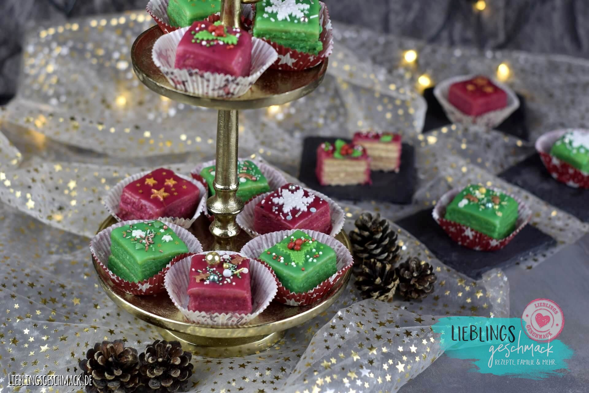 Weihnachtliche Petits-Fours - Rezept und Video von Lieblingsgeschmack | SCCC 2020: Türchen Nr. 18 | Gewinnspiel