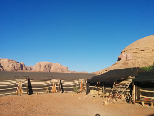 Inside a Wadi Rum desert camp