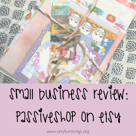 passiveshop on Etsy: Small Business Review
