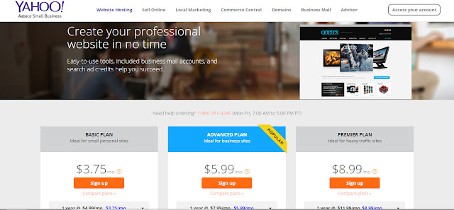 Yahoo hosting - top hosting company for small business site