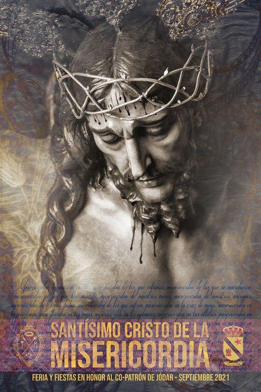 Cartel Anunciadora de las fiestas al Cristo de la Misericordia, Copatrón de Jódar 2021