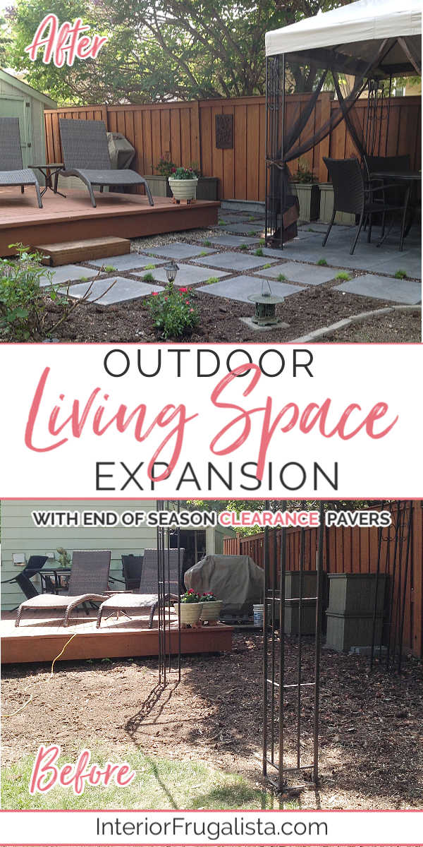 Outdoor Living Space Expansion Before and After