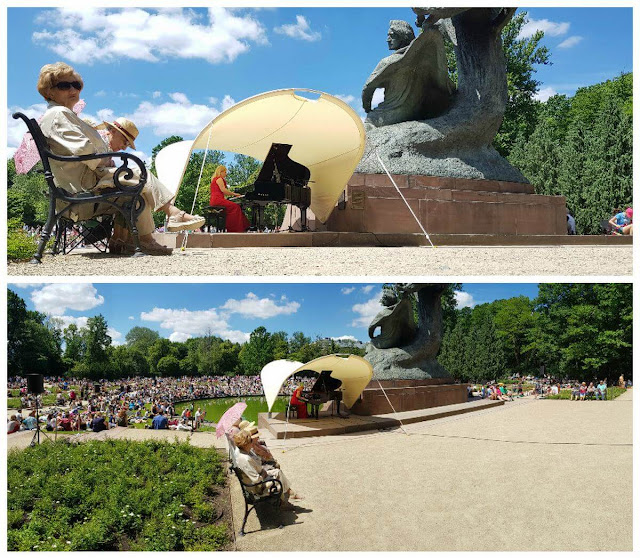 pianista Parque Lazienki y concierto de Chopin
