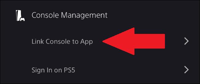 ربط وحدة تحكم ps5 بتطبيق بلاي ستيشن