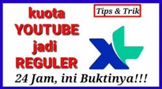 Cara Mengubah Kuota Youtube XL menjadi Kuota Reguler 24 Jam