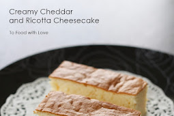 Creamy Cheddar and Ricotta Cheesecake