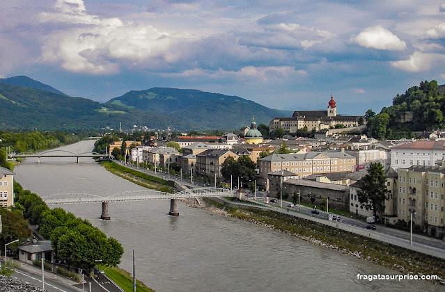 Salzburgo: Rio Salzsach e Abadia de Nonnberg