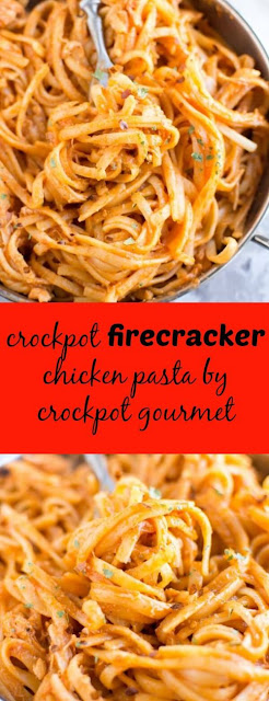 Slow Cooker Firecracker Chicken Pasta