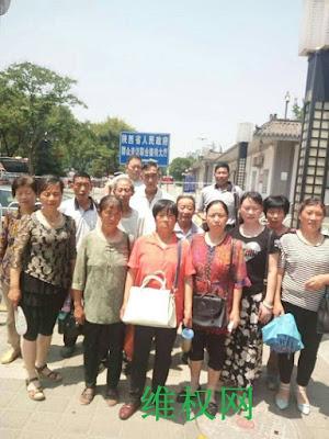 陕西省原民办和代课教师600余人再次集体到省信访局上访维权(图)