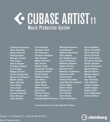 Cubase 11.0.20 Artist Installer