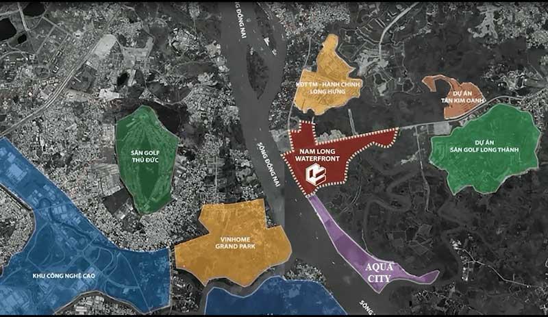 Vị trí dự án Waterfront City