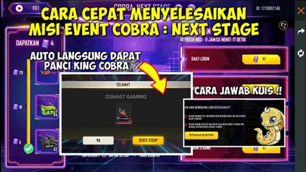 Kunci Jawaban Kuis Cobra FF