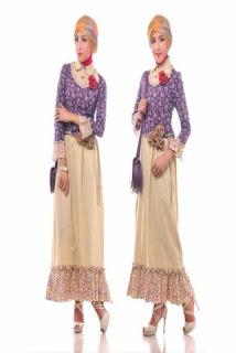 Gamis Sifon Blazer Batik