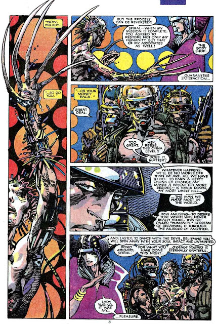 X-men v1 #205 marvel comic book page art by Barry Windsor Smith