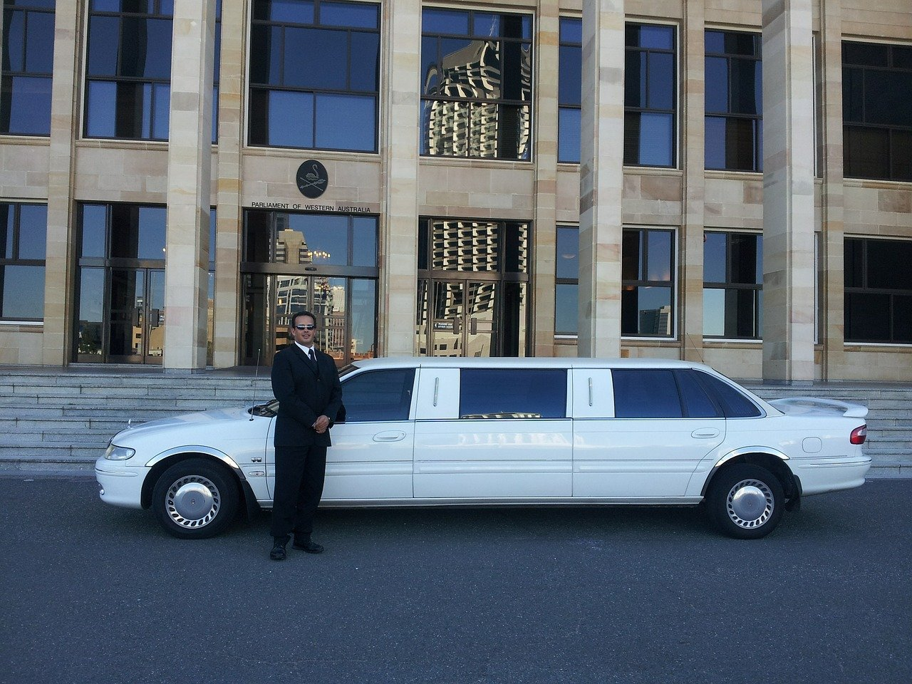 New York City in a Limousine