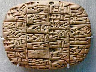 حضارة بلاد الرافدين الكتابة المسمارية