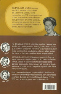 Éramos seis. Maria José Dupré. Editora Ática (São Paulo-SP). Coleção Vaga-Lume. 2010-2011 (42ª edição). ISBN: 978-85-08-13611-7 (aluno) e 978-85-08-13612-4 (professor). Contracapa.