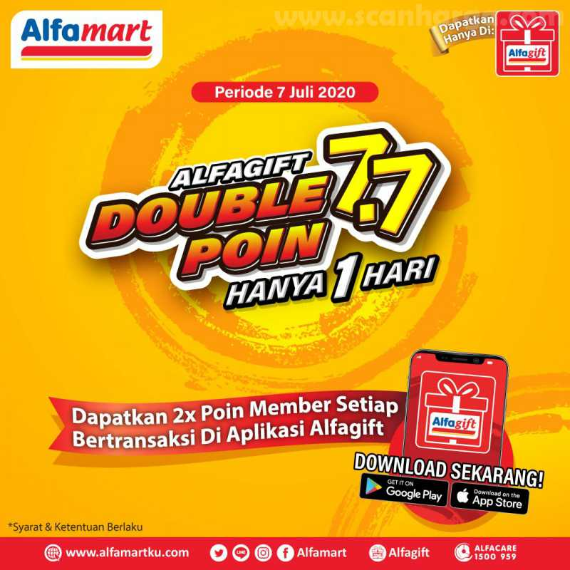 Alfamart - Promo AlfaGift Double Point 7.7 Hanya 1 Hari 1