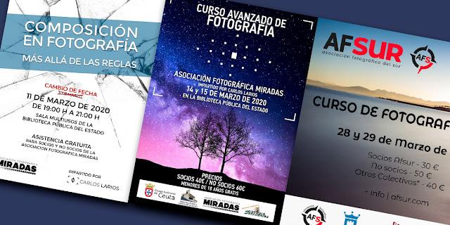 Charla de composición y Curso avanzado de Fotografía en Ceuta y Algeciras