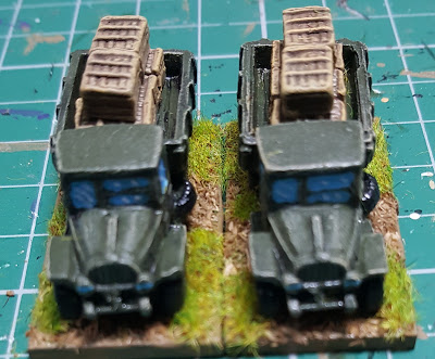 Supply trucks for Soviet tank Brigade
