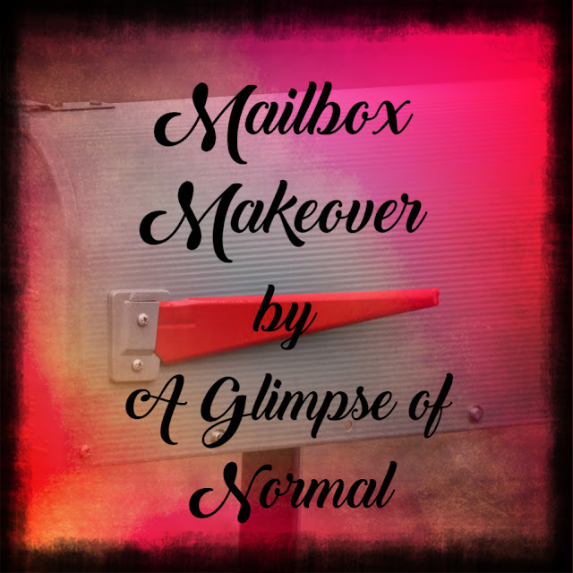Do you want to make your mailbox stand out?  Check out today's post on A Glimpse of Normal to see how I customized our mailbox.