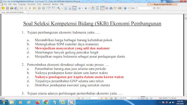 Download contoh soal pppk skb ekonimo pembangunan dan kunci jawaban