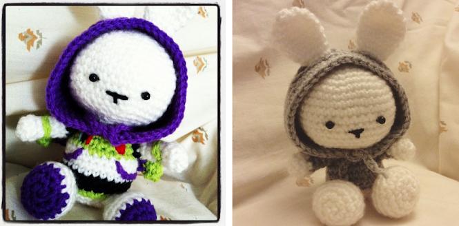 Amigurumi Buzz Lightyear Bunny and Hoodie Bunny