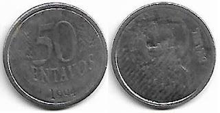 50 centavos, 1994 com reverso horizontal