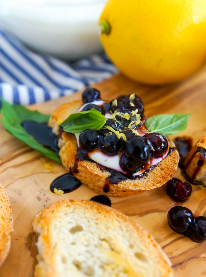 Blueberry Ricotta-Goat Cheese Crostini from The Pioneer Woman Cooks, The New Frontier