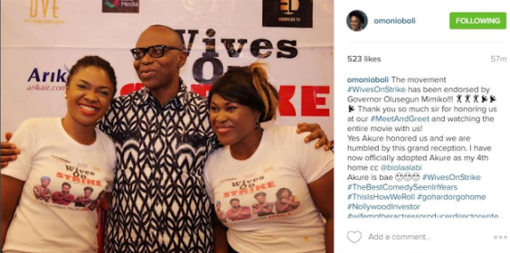 Governor Mimiko at Wives on Strike meet and greet, movie sets new record at the cinema with N15m in three days