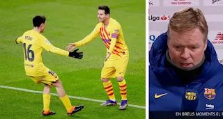 Koeman speaks on Messi & Pedri glorious performance in Athletic victory