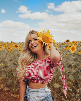 poses para fotos tumblr con girasoles