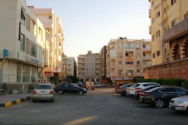 Hurghada wygląd miasta, Al Fondok street Hurghada