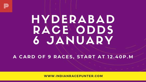 Hyderabad Race Odds 6 January