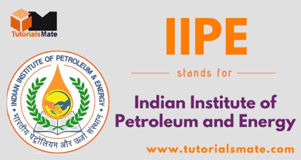 IIPE Full Form