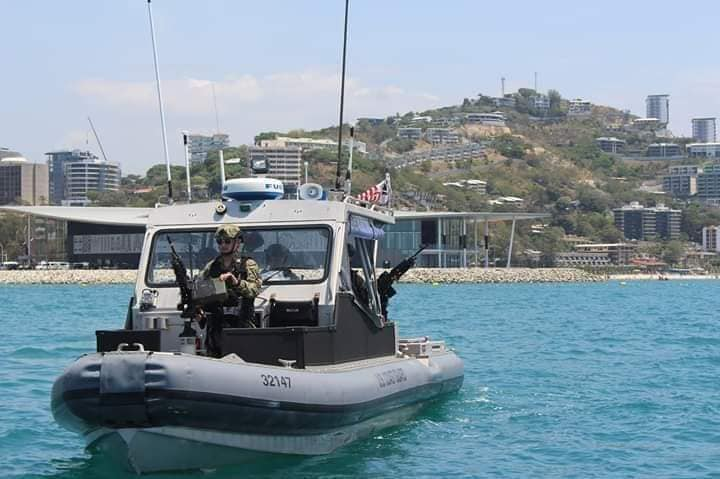 US Coast Guards  provide security for APEC in Port Moresb, PNG