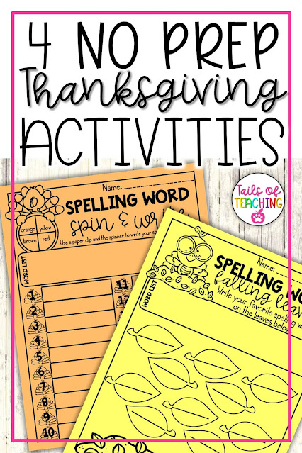 no-prep-thanksgiving-activities