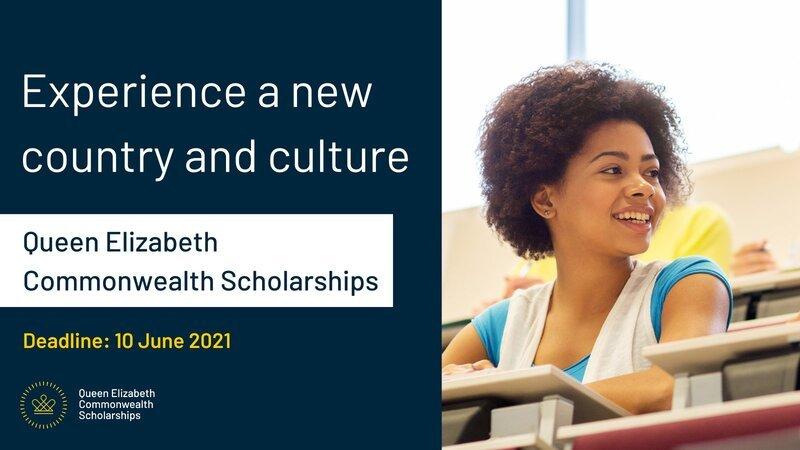 Bourses d'études Reine Elizabeth du Commonwealth 2021