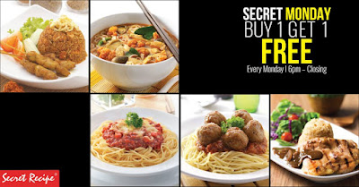 Secret Recipe Malaysia Main Course Buy 1 Free 1 Promo