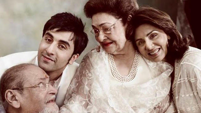 Ranbir Kapoor 's grandmother Krishna Raj Kapoor passes away