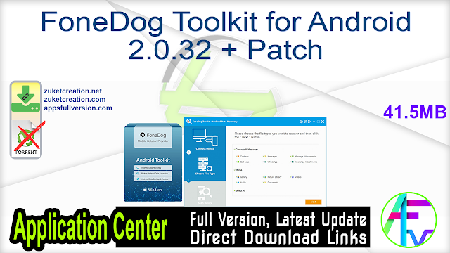FoneDog Toolkit for Android 2.0.32 + Patch