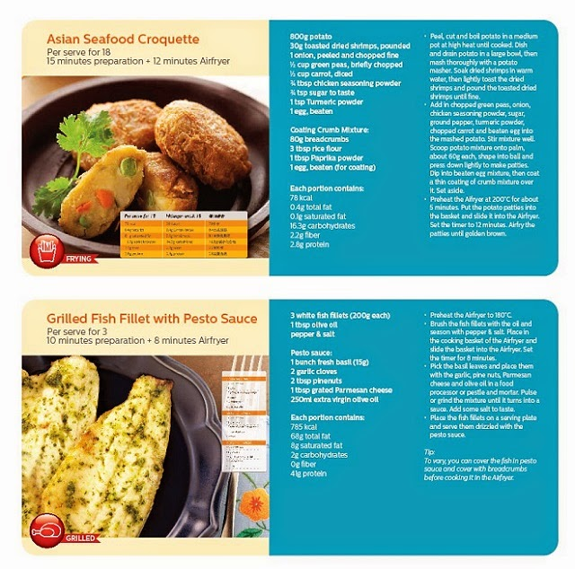 Some of the cool recipes that you can apply and cook with the Philips Airfryer