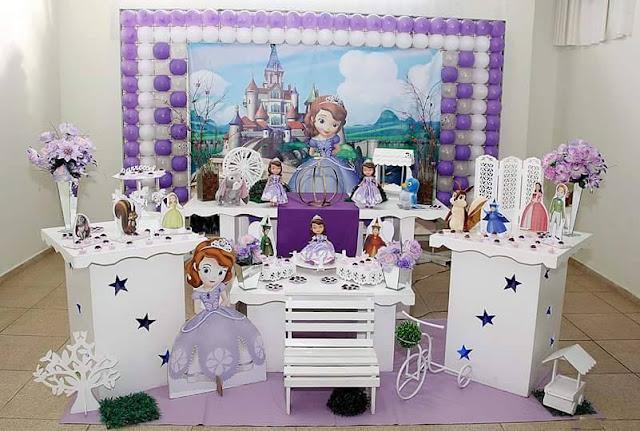 7 Mesas Princesa Sofia Para Festa Infantil