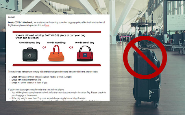 Policy Terbaru Bagi Bagasi Cabin Bagi Flight AirAsia