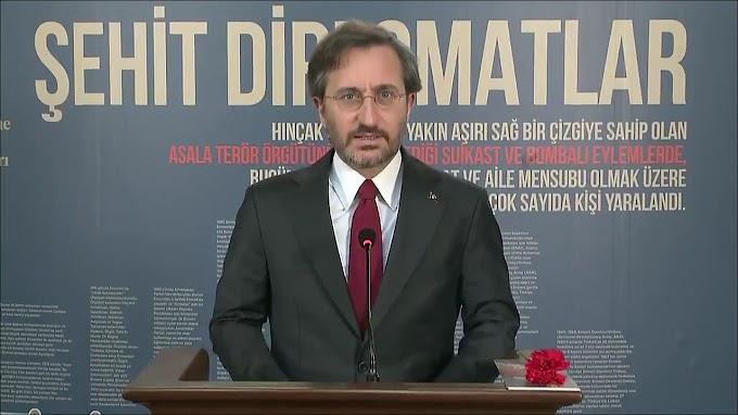 İletişim Başkanı Fahrettin Altun, geçtiğimiz günlerde şehit edilen