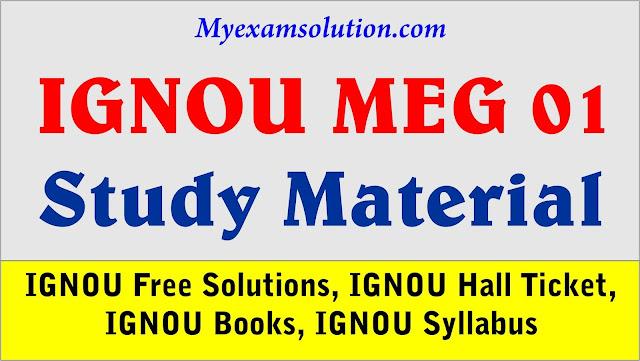 MEG 01 British Poetry, IGNOU MEG 01 study material