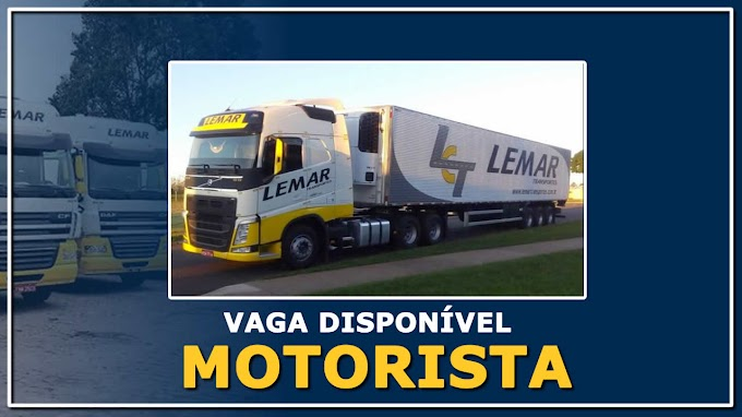 Transportadora Lemar abre vagas para Motorista